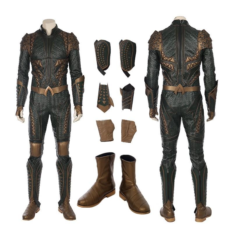 2017 Justice League Aquaman Arthur Curry Cosplay Costume