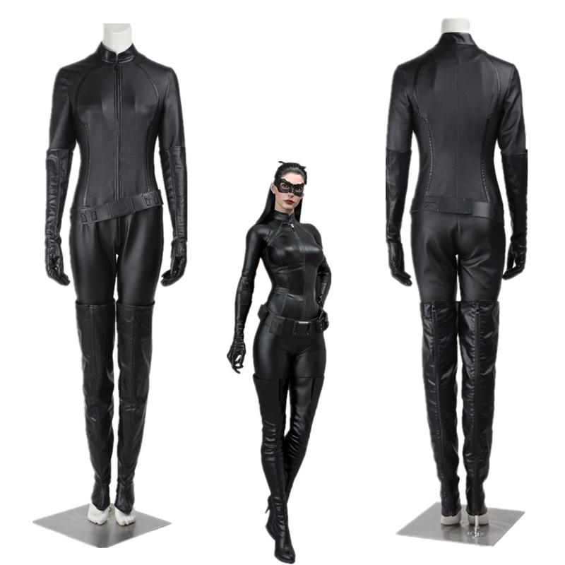 New Batman The Dark Knight Rises Selina Kyle Catwoman Cosplay Costume
