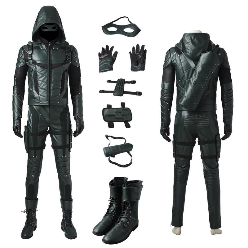 The Green Arrow Season 5 Oliver Queen Cosplay Costume