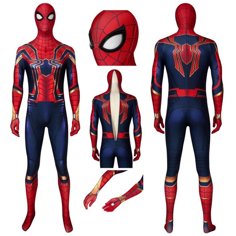 Avengers: Endgame Iron Spiderman Peter Parker Cosplay Jumpsuit