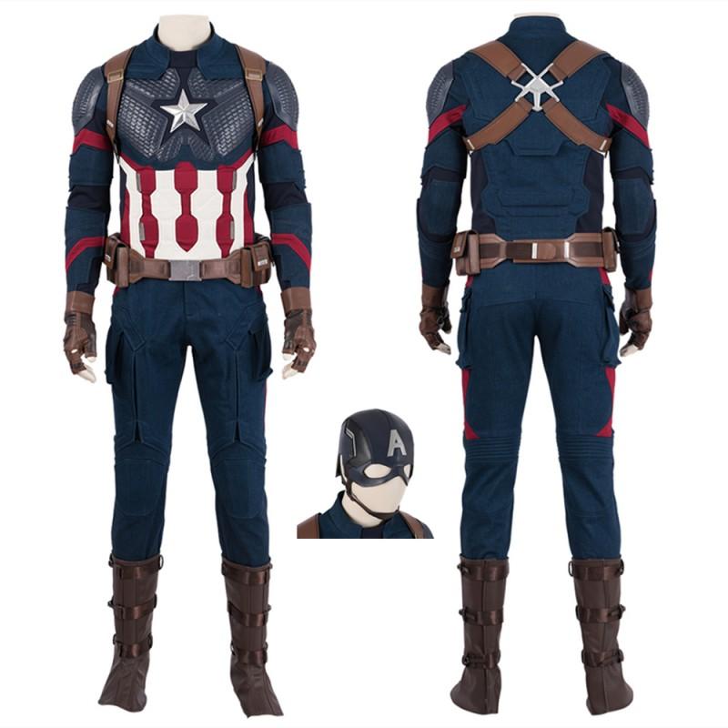 Captain America Cosplay Costume Avengers Endgame Steve Rogers Cosplay Suit