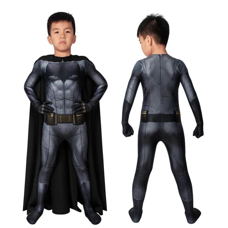 Batman V Superman Batman Bruce Wayne Cosplay Jumpsuit for Kids Halloween Gifts