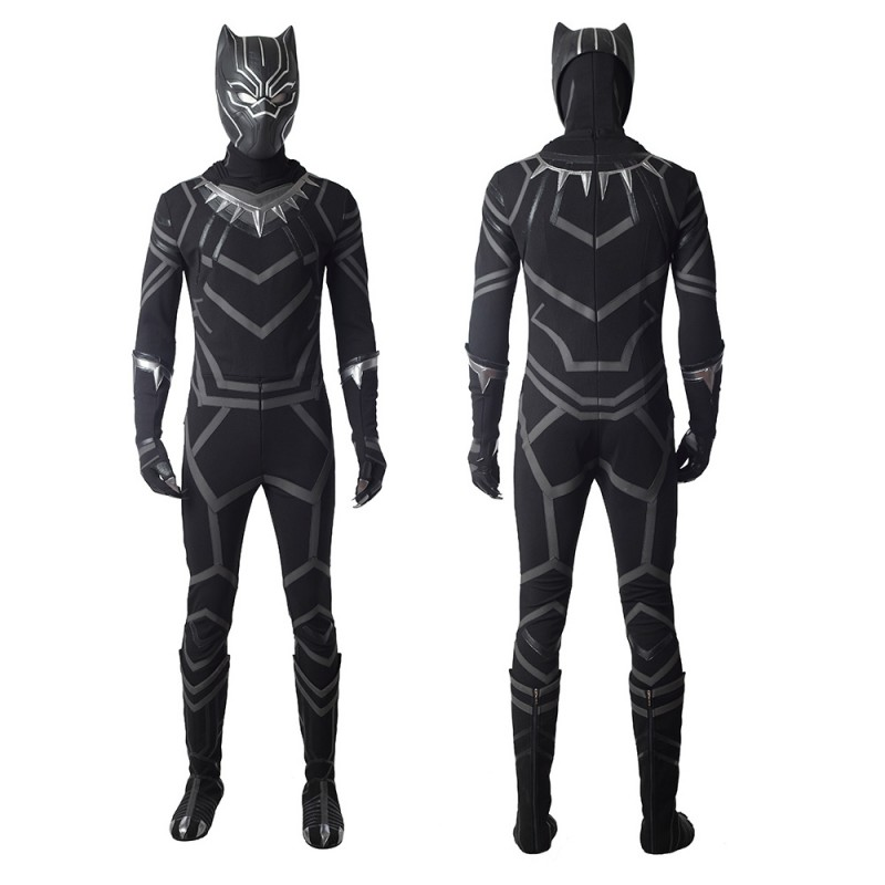Black Panther Suits T'Challa Classic Cosplay Costume
