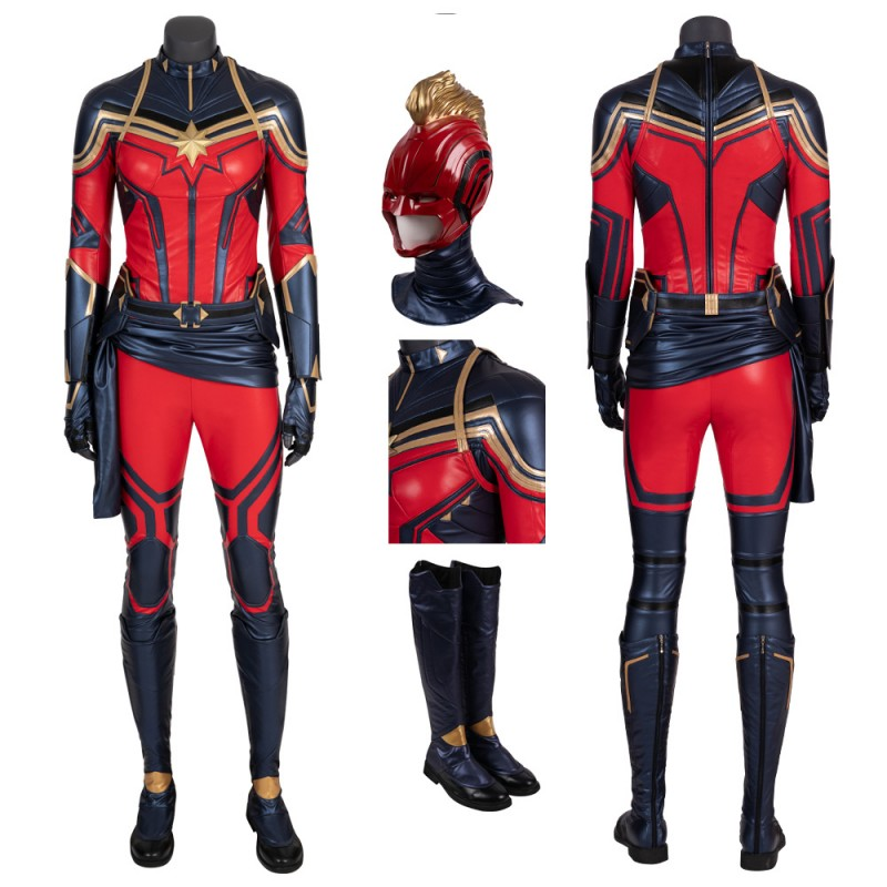 Captain Marvel Costume Carol Danvers Avengers Endgame Cosplay Suits