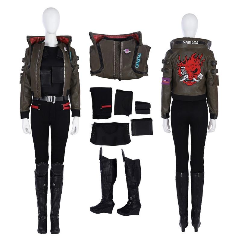 Cyberpunk 2077 Female Jacket Cosplay Costumes