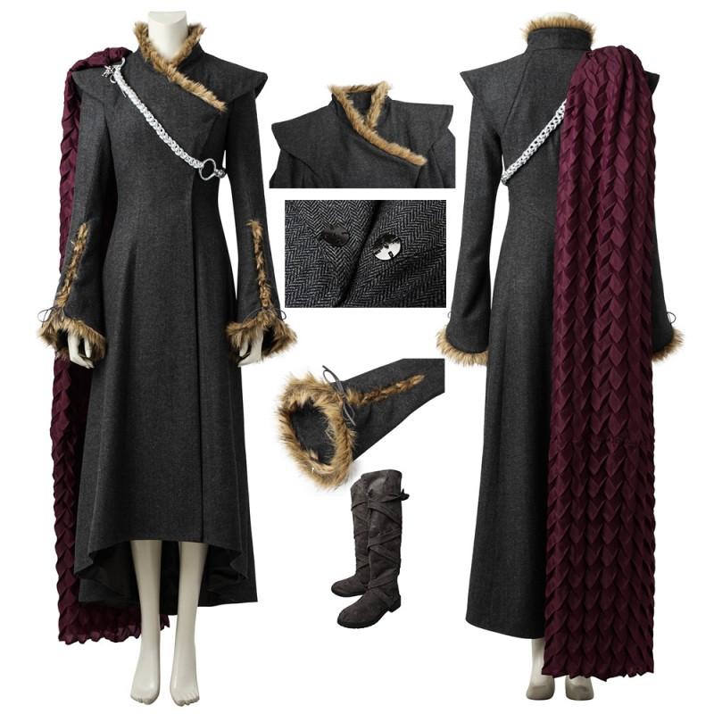 Daenerys Targaryen Cosplay Costume GOT Season 7 Plush Deluxe Edition