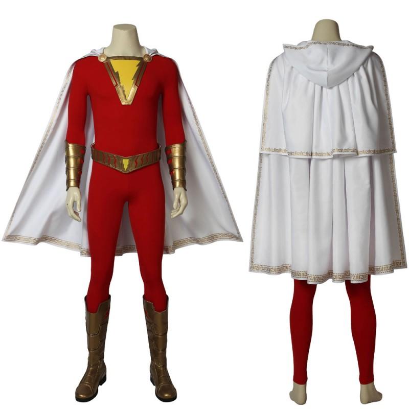 DC Film Shazam! Billy Batson Superhero Shazam Cosplay Costume