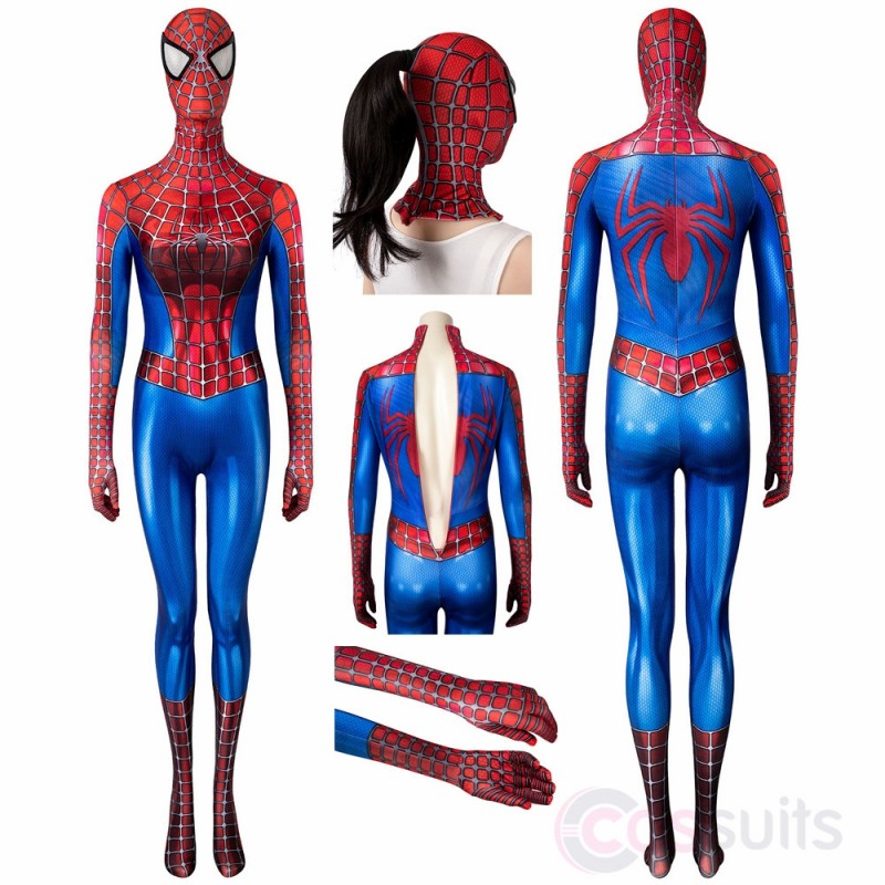 Female Spiderman Costume Spider-man Tobey Maguire Cosplay Jumpsuit