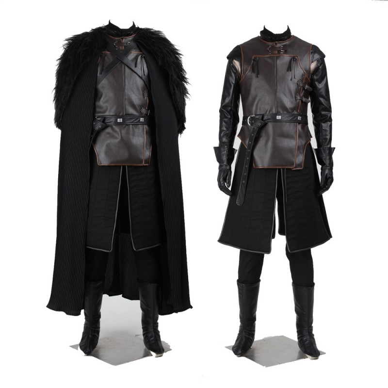Game of Thrones Jon Snow Night's Watch Commander Cosplay Costume
