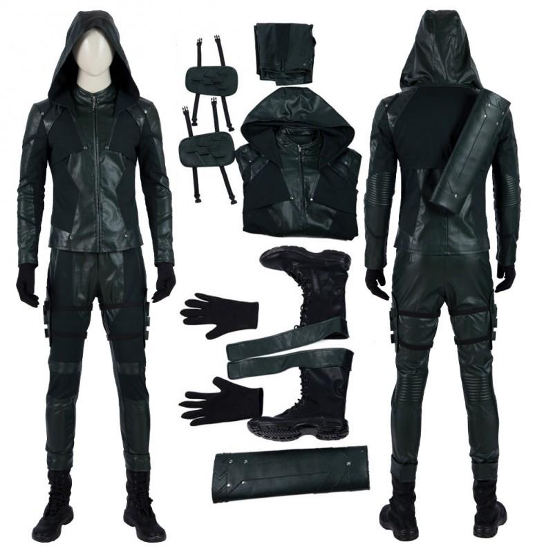 Green Arrow 8 Costume Green Arrow Oliver Queen Cosplay Suit