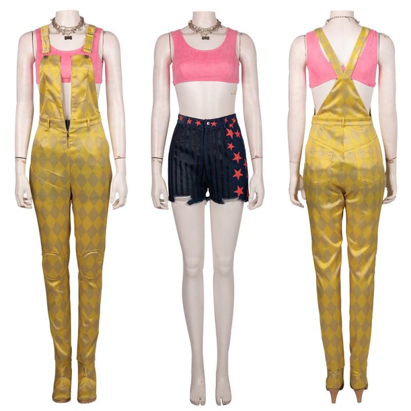 Harley Quinn Cosplay Costume Birds of Prey Yellow Cosplay Suit