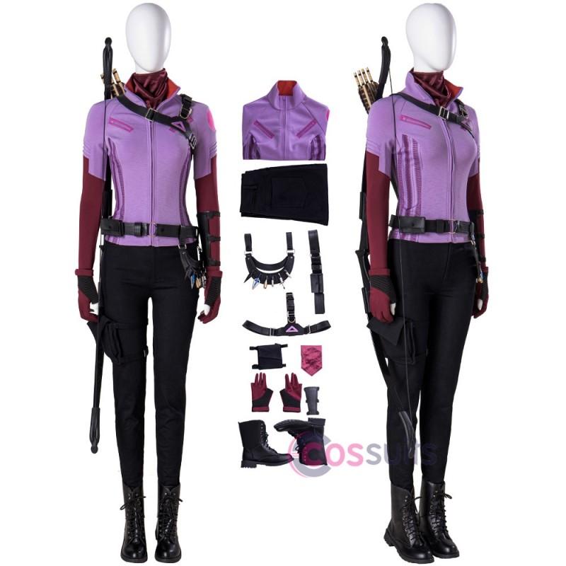 Hawkeye Kate Bishop Costume Kate Bishop Purple Cosplay Suit