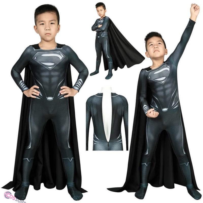Kids Justice League Superman Cosplay Costume Superman Clark Kent Suit Halloween Gifts