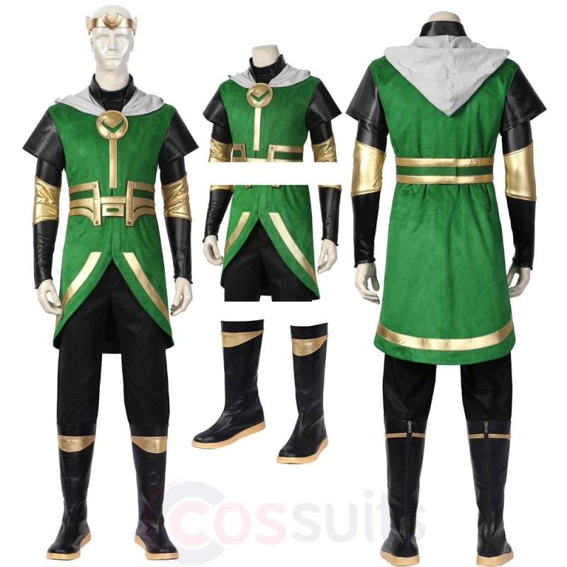 Kids Loki Costumes 2021 Loki Laufeyson Cosplay Suit