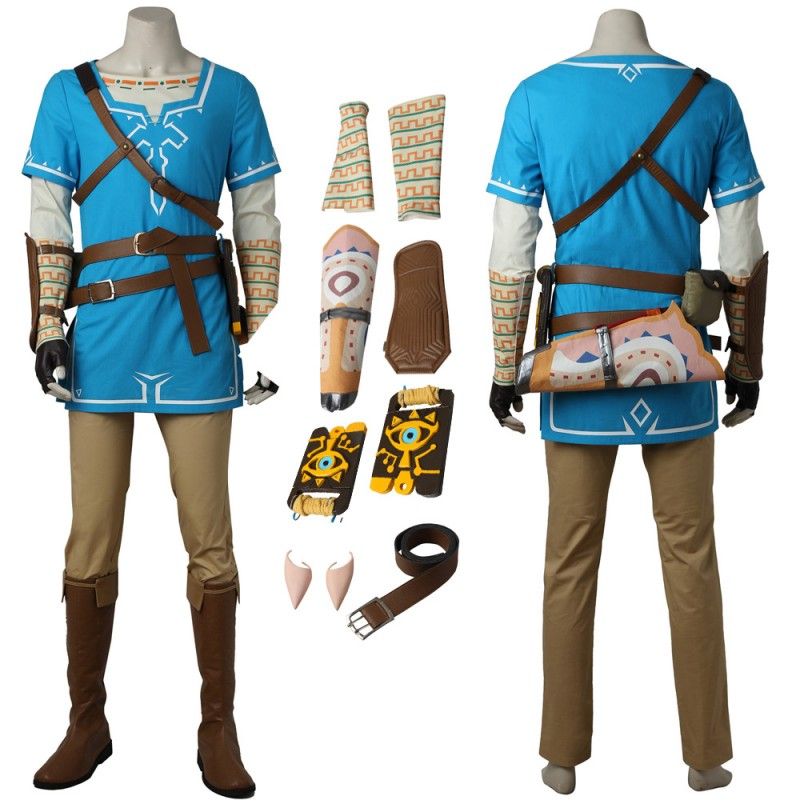 Link Cosplay Costume The Legend of Zelda Breath of the Wild Cosplay Outfit