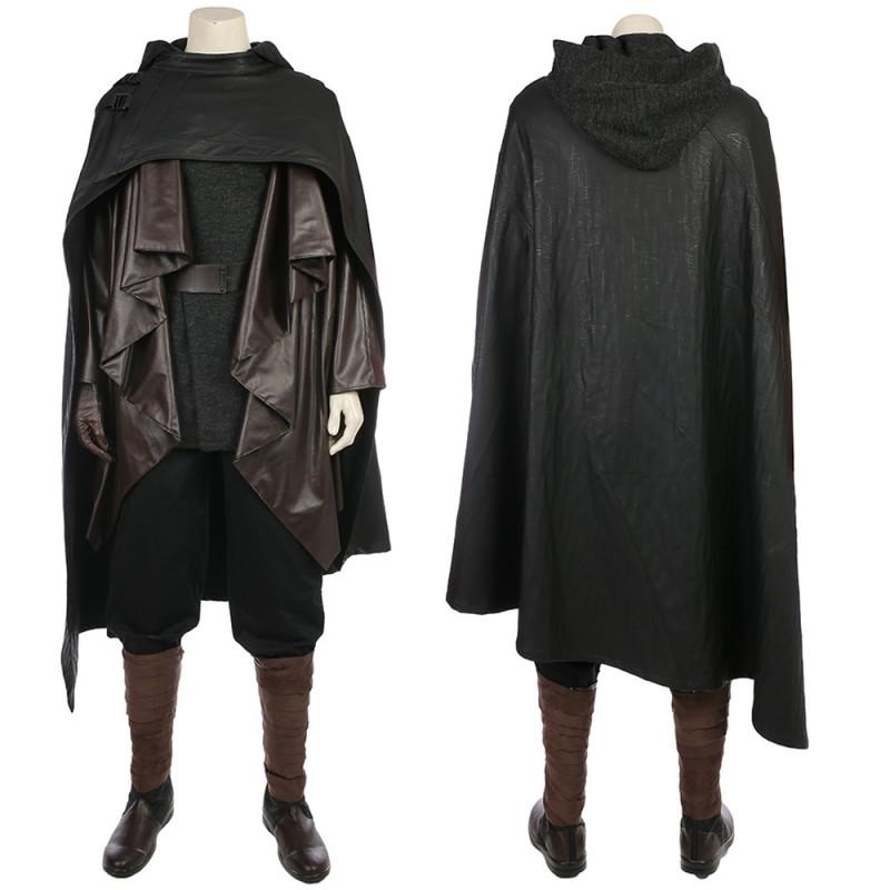 Luke Skywalker Black Cosplay Costume Star Wars 8 The Last Jedi Cosplay Suit