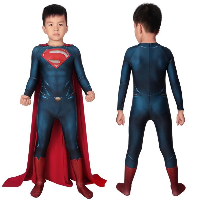 Man Of Steel Superman Clark Kent Cosplay Jumpsuit For Kids Halloween Costumes Gifts