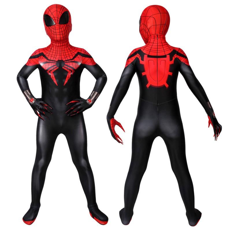 Kids Superior Spider-Man Suit Spiderman Cosplay Costume Halloween Gifts