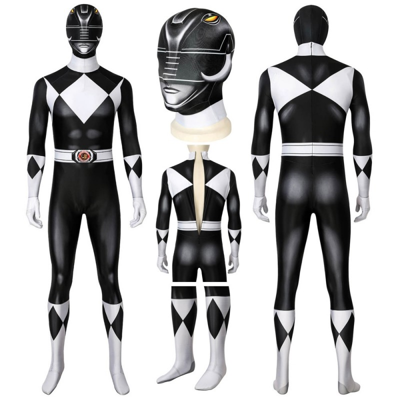 Mighty Morphin Black Power Rangers Cosplay Suit Goushi Mammoth Ranger Costume