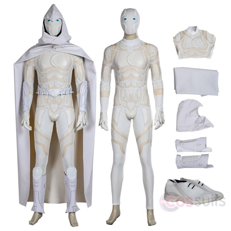 Moon Knight One 12 White Cloak Cosplay Costume
