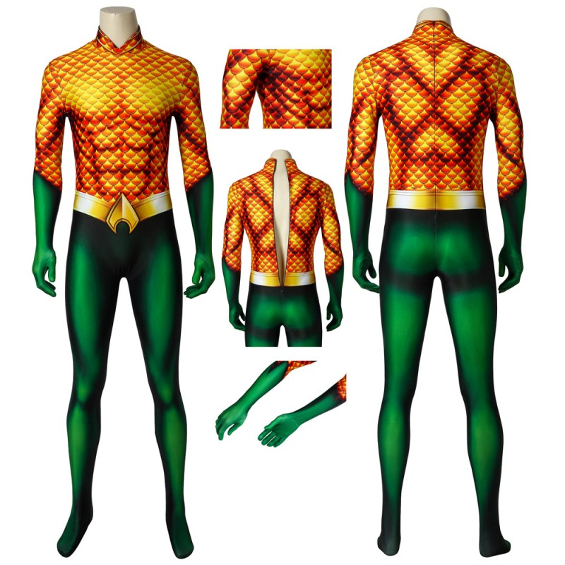 New Aquaman Jumpsuit Arthur Curry Cosplay Costume