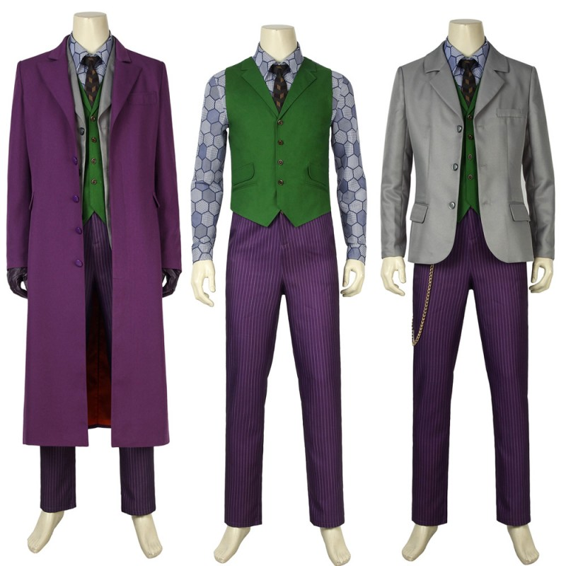 New Batman Dark Knight Rise Joker Cosplay Costume