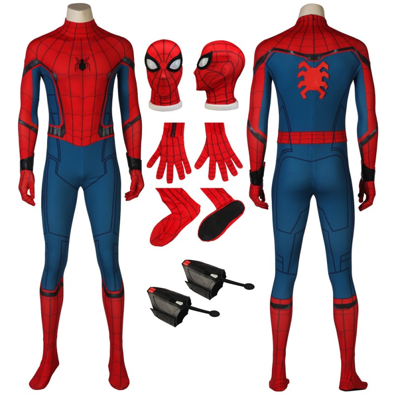 Spider-Man Suits Homecoming Peter Parker Cosplay Costume