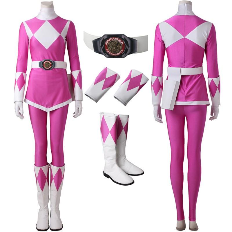 Pink Ranger Cosplay Costume Mighty Morphin Power Rangers Cosplay Suit