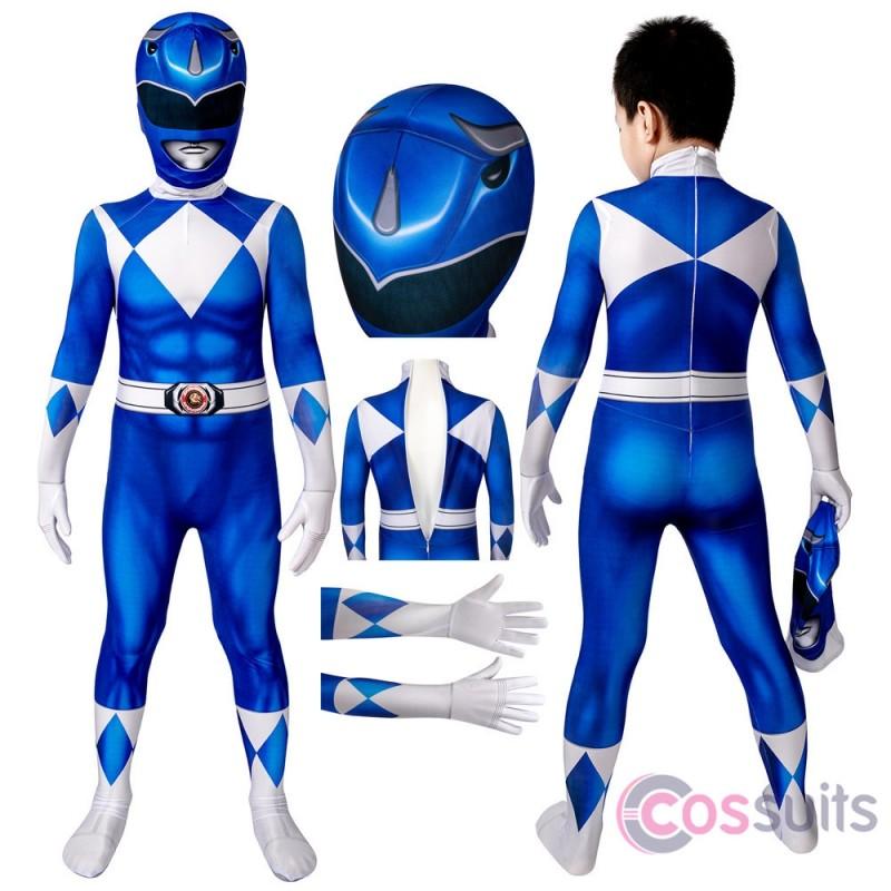 Power Rangers Kids Costume Power Rangers Billy Blue Ranger Cosplay Halloween Costumes