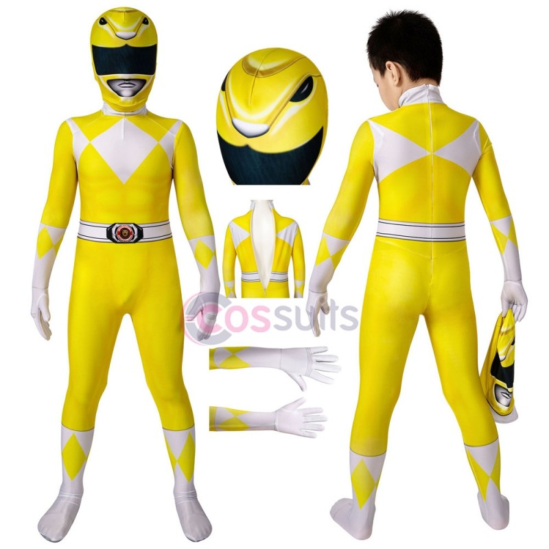 Power Rangers Kids Costume Power Rangers Trini Kwan Yellow Ranger Cosplay Jumpsuit