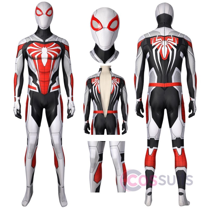 Spider-man Costume PS5 Remastered Spandex Printed Cosplay Suit