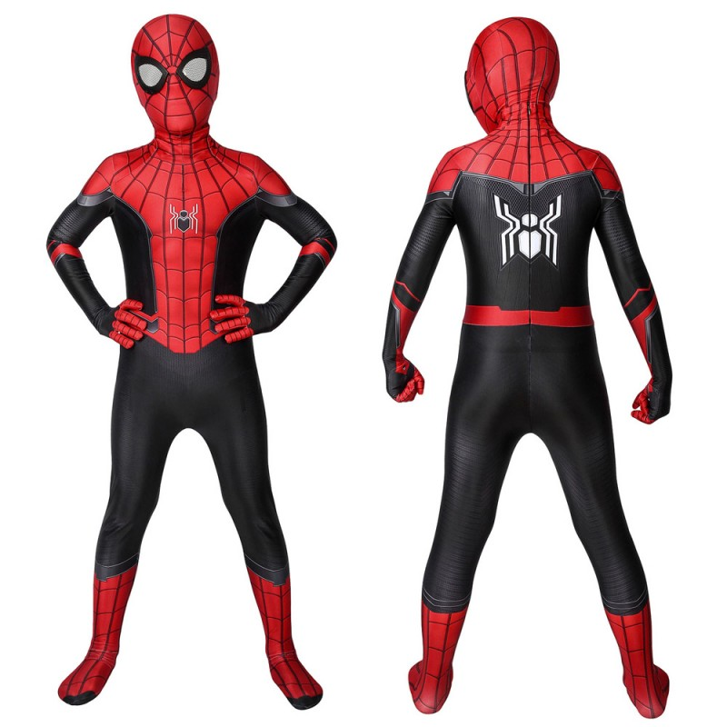 Kids Spider-Man Suits Far From Home Peter Parker Cosplay Jumpsuit Christmas Gifts