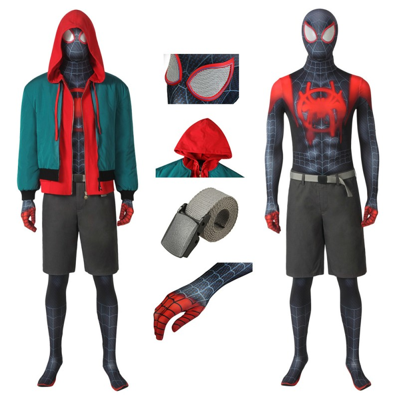 Spider-Man: Into the Spider-Verse Miles Morales Cosplay Suit
