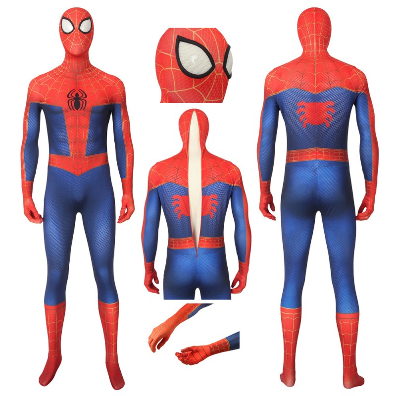 Spiderman: Into The Spider-Verse Peter Parker Cosplay Jumpsuit