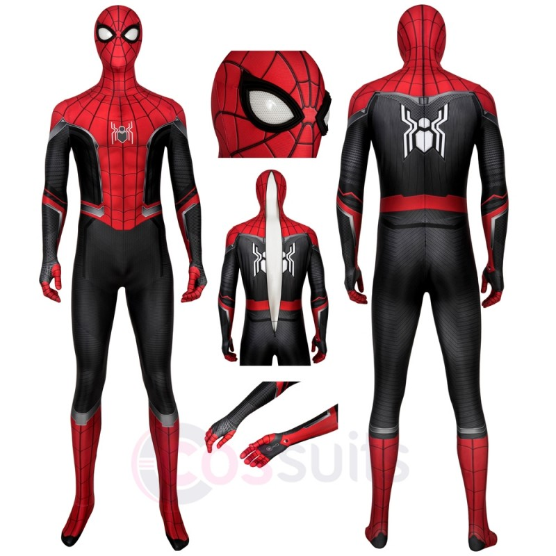 Spider-Man Peter Parker Costume Spiderman Far From Home Cosplay Suit