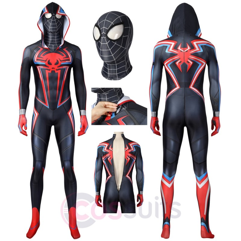 Spider-Man PS5 Miles Morales 2099 Costume Miles Morales 2099 Cosplay Suit