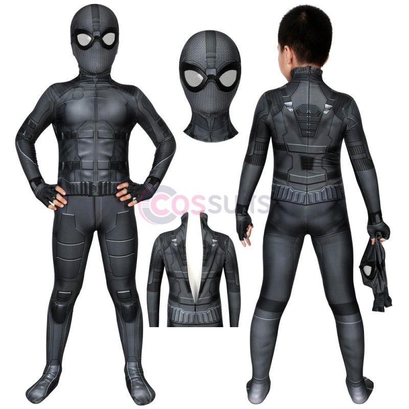 Spider-man Kids Costume Spiderman Far From Home Peter Parker Night Monkey Stealth Suit Birthday Gifts