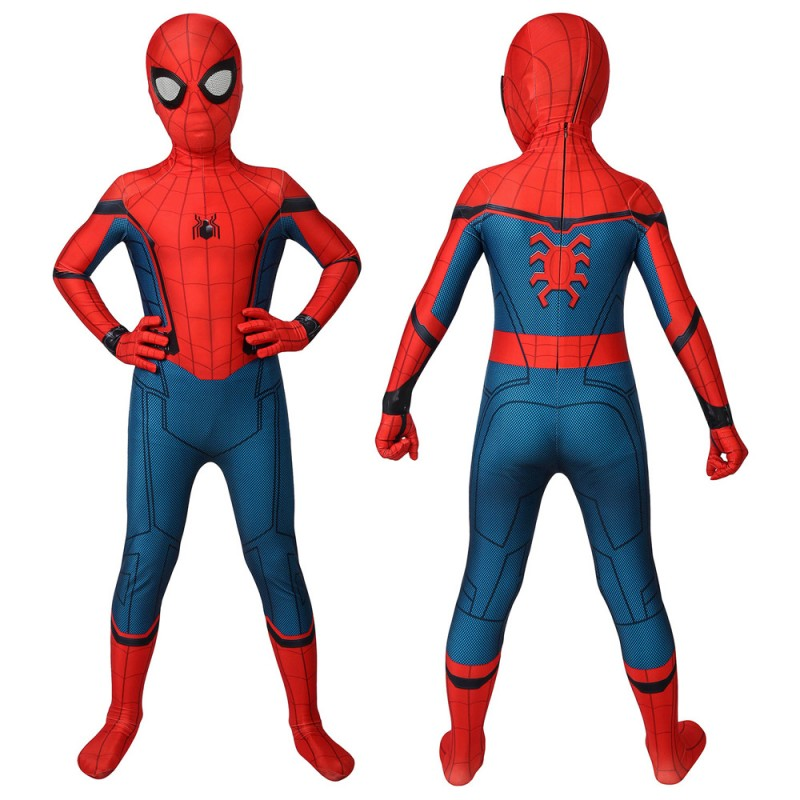 Kids Spider-man Suits Homecoming Spiderman Cosplay Jumpsuit Party Gifts