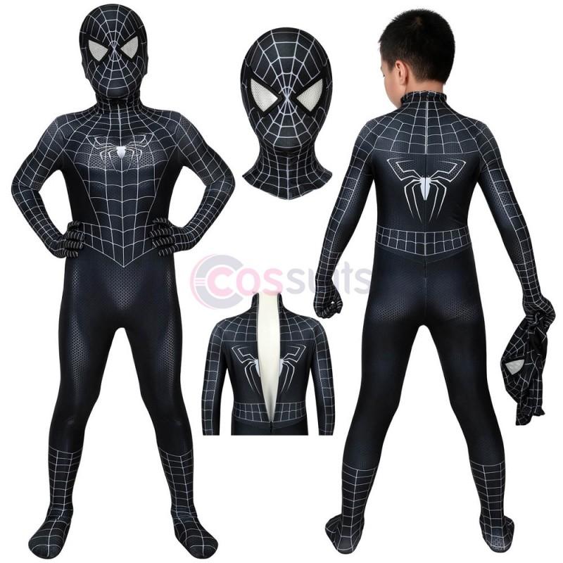 Spider-man Kids Costume Spiderman 3 Eddie Brock Venom Cosplay Suits Party Gifts