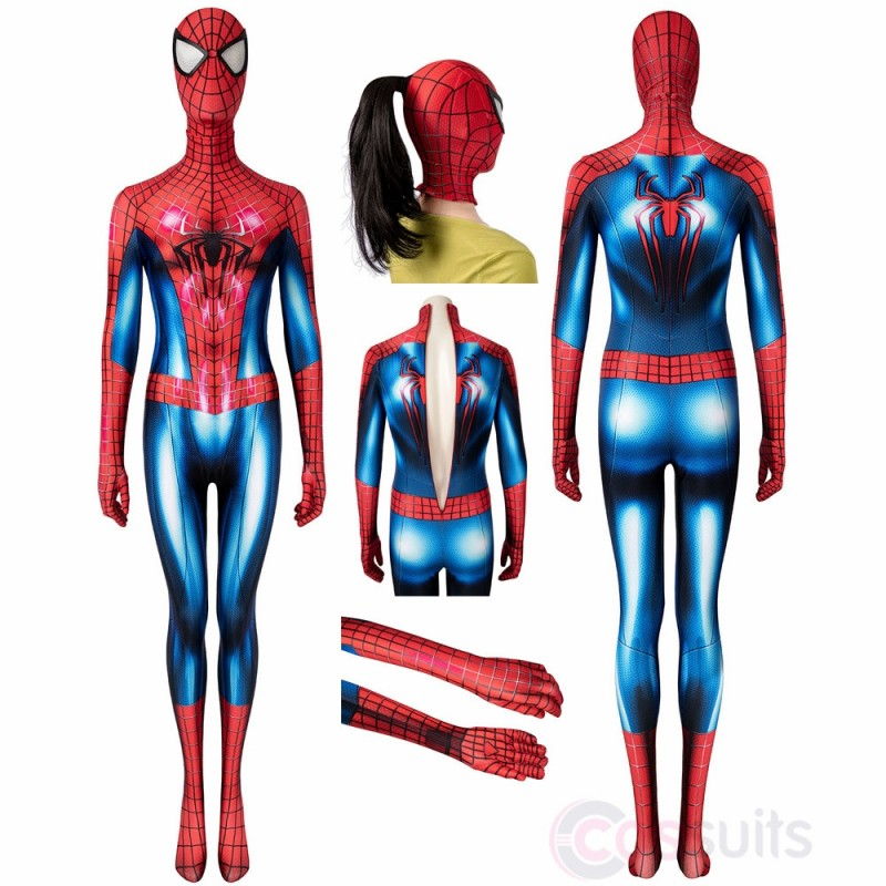 Spiderman Women's Costume The Amazing Spiderman 2 Peter Parker Cosplay Jumpsuit