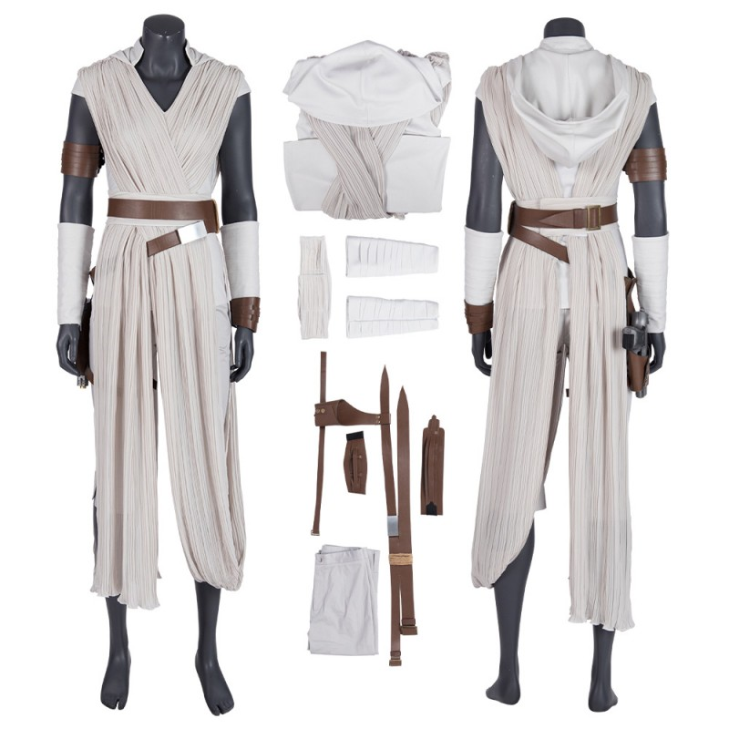 Star Wars The Rise Of Skywalker Rey White Cosplay Costume