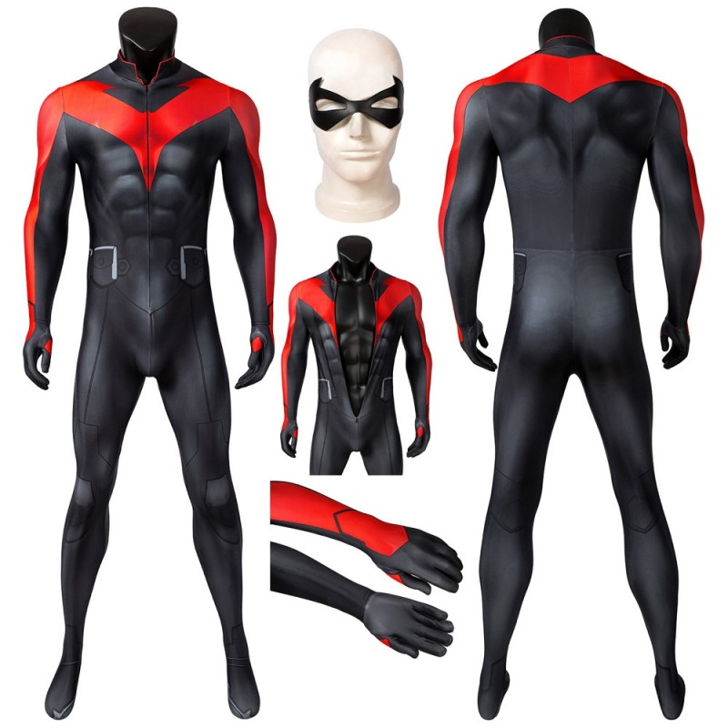 Teen Titans Costume The Judas Contract Nightwing Cosplay Suit