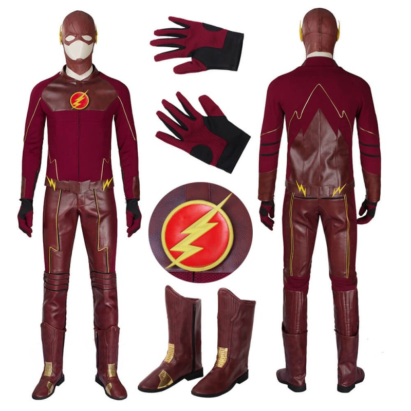 New DC The Flash 1 Barry Allen Cosplay Costume