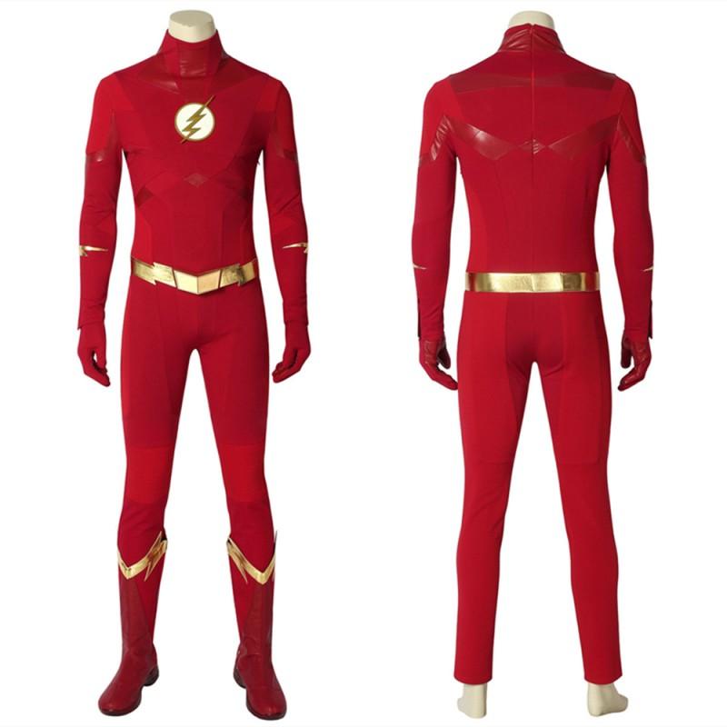 The Flash Season 5 Barry Allen Superhero Cosplay Costume