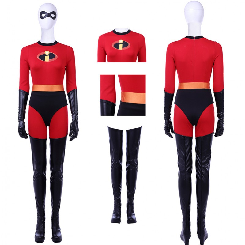 The Incredibles 2 Elastigirl Helen Parr Cosplay Costume With Boots