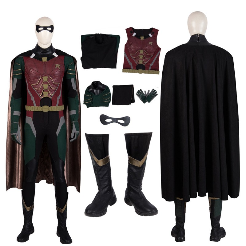 Titans Robin Suit Dick Grayson Cosplay Costume