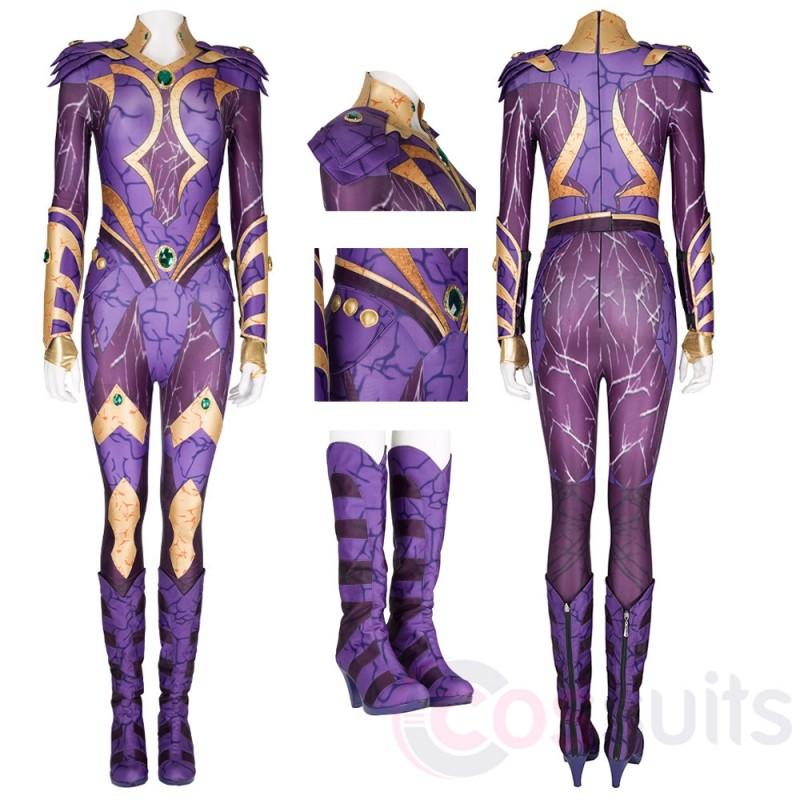 Titans Season 3 Starfire Purple Cosplay Costume