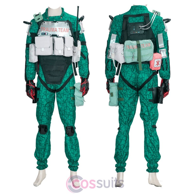 Trauma Team Cosplay Costume Cyberpunk 2077 Green Suit