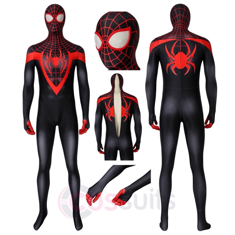 Ultimate Spider-man Miles Morales Costumes Spider Man Cosplay Suit