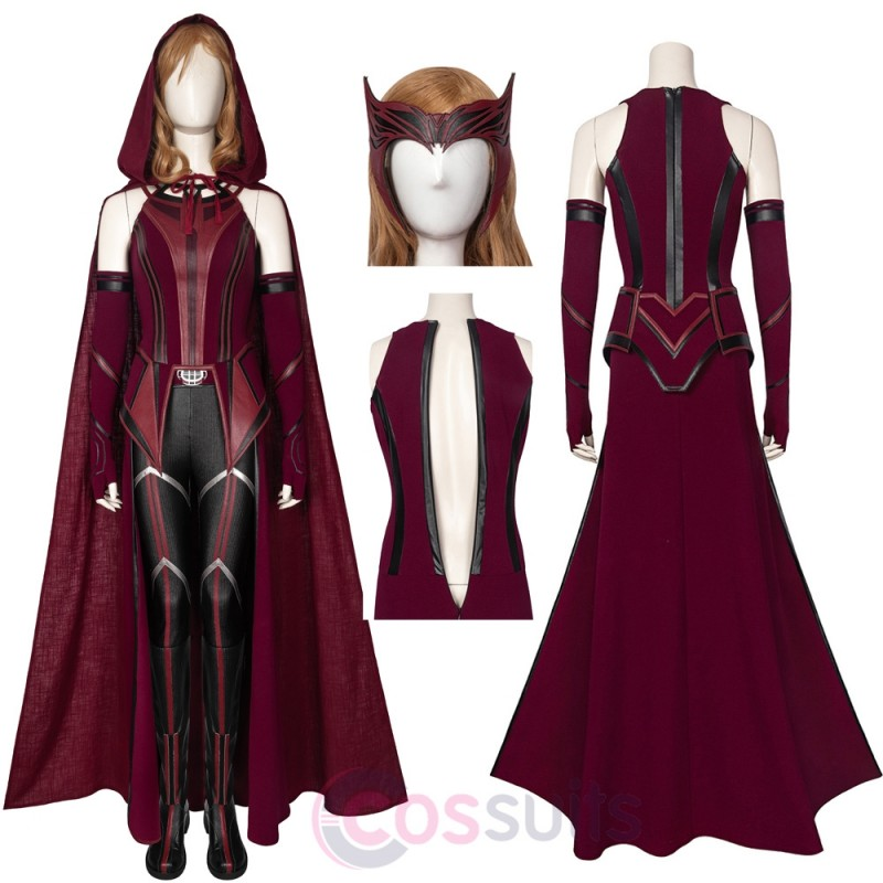 Wanda Vision Scarlet Witch Costume Wanda Maximoff Cosplay Suit